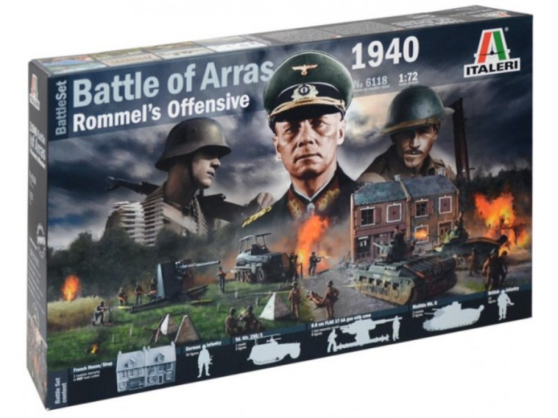 Image 0 of Italeri 1/72 WWII Battle Of Arras 1940 Diorama Playset Model 6118