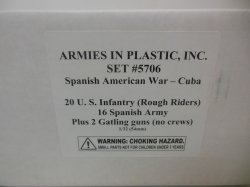 Armies In Plastic 1/32nd Spanish American War Set 5706