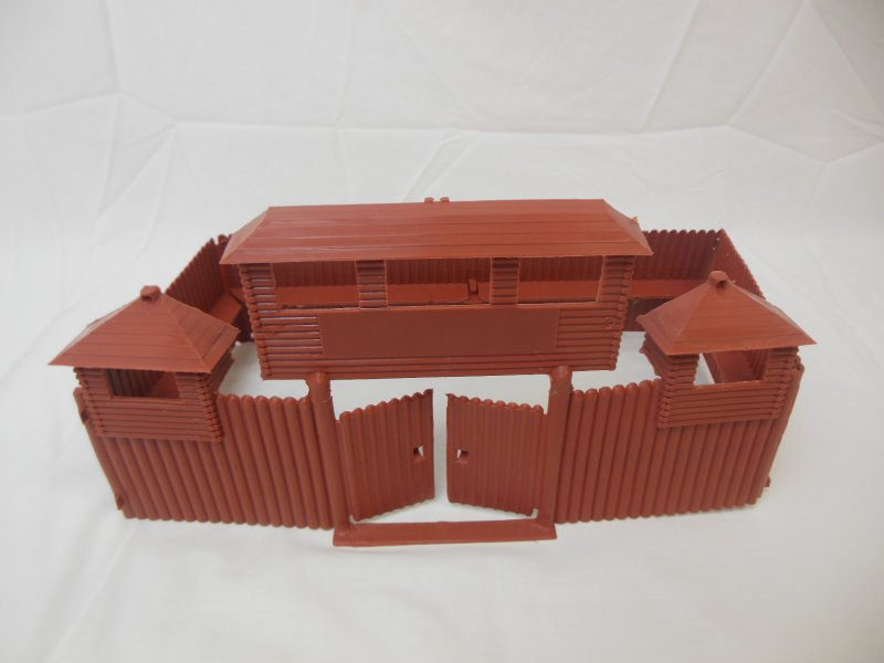 Image 0 of MPC Recast Snap Together Plastic Western Playsets Wood Stockade FORT