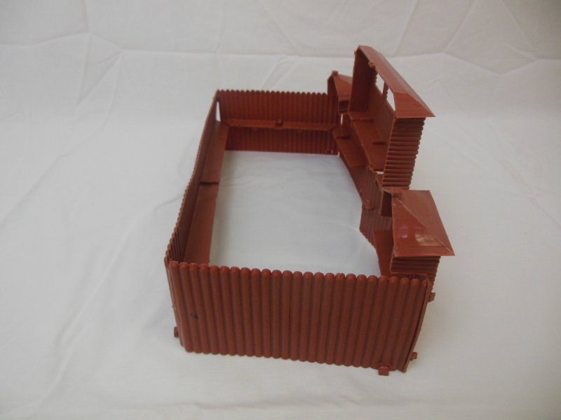 Image 1 of MPC Recast Snap Together Plastic Western Playsets Wood Stockade FORT