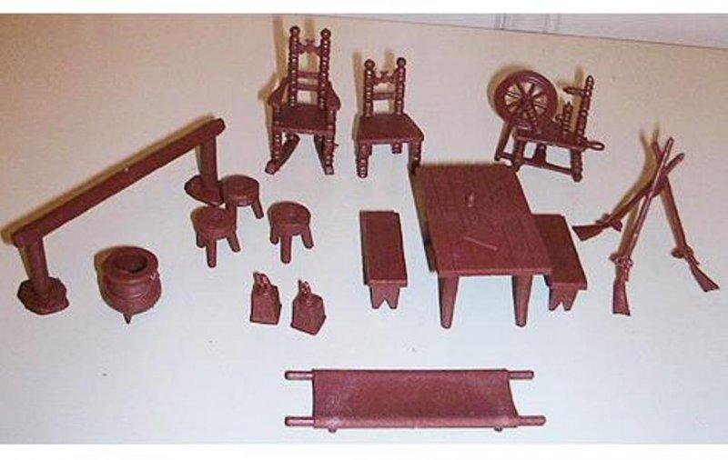 Image 0 of Marx Revolutionay War Playset Accessories 17 Piece Set