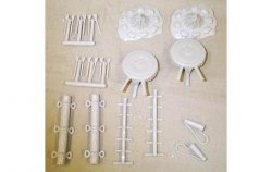 Marx Recast Medieval Archery And Seige Equipment Plastic 12 Pc Set
