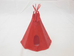 Marx Reissue Western American Indian Red Village Teepee