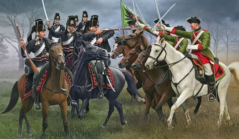 Image 0 of Revell 1/72nd Scale 7 Years War Austrian & Prussian Cavalry Double Box Set 2453