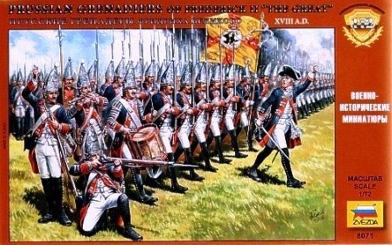 Image 0 of Zvezda 1/72  Plastic Prussian Grenadiers of Frederick II The Great XVIII 8071