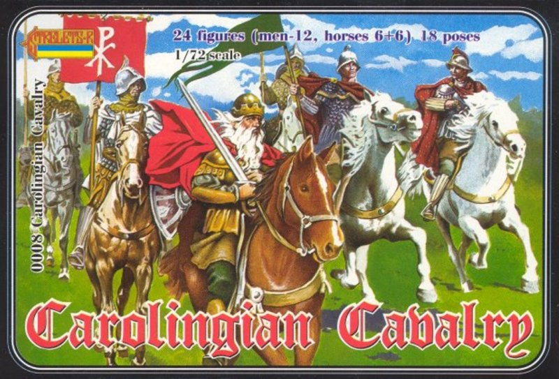 Image 0 of Strelets 1/72nd Scale Plastic Medieval Carolingian Cavalry Figures Set 0008