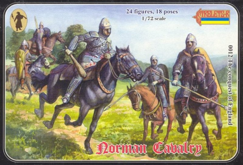 Image 0 of Strelets 1/72nd Scale Plastic Medieval Norman Cavalry Figures Set 0012