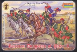 Strelets 1/72nd Scale Plastic Russian Dragoons Of Peter I Figures Set 0010