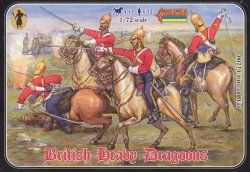 Strelets 1/72nd Scale Plastic Crimean War British Heavy Dragoons Set 0023
