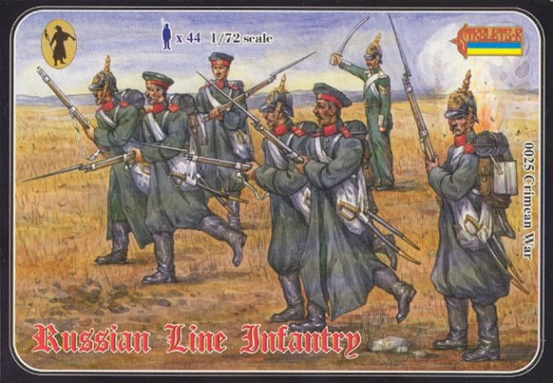 Image 0 of Strelets 1/72nd Scale Plastic Crimean War Russian Line Infantry Set 0025