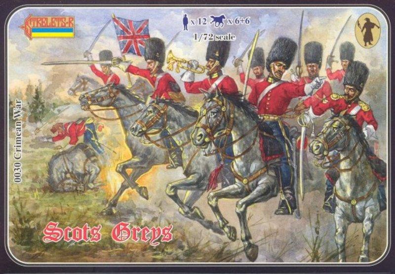 Image 0 of Strelets 1/72nd Scale Plastic Crimean War British Scots Greys Set 0030