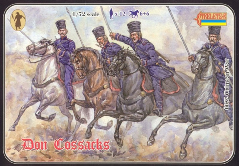 Image 0 of Strelets 1/72nd Scale Plastic Crimean War Russian Don Cossacks Set 0052