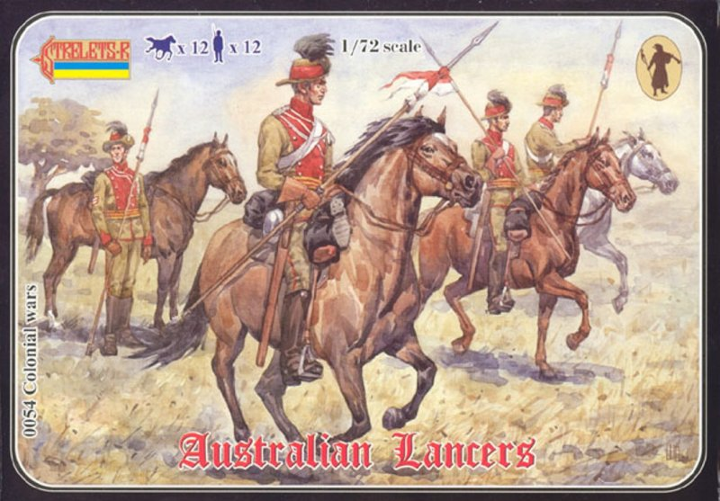 Image 0 of Strelets 1/72nd Scale Plastic Colonial Wars Australian Lancers Set 0054