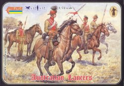 Strelets 1/72nd Scale Plastic Colonial Wars Australian Lancers Set 0054
