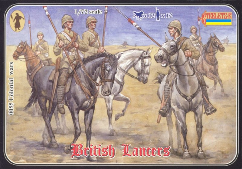 Image 0 of Strelets 1/72nd Scale Plastic Colonial Wars British Lancers Set 0055