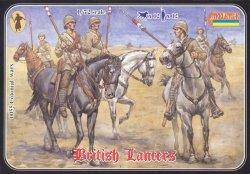 Strelets 1/72nd Scale Plastic Colonial Wars British Lancers Set 0055