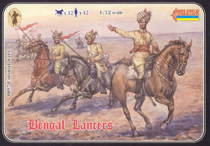 Image 0 of Strelets 1/72nd Scale Plastic Colonial Wars Bengal Lancers Set 0057