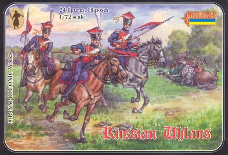 Image 0 of Strelets 1/72nd Scale Plastic Napoleonic Wars Russian Uhlans Cavalry Set 0015