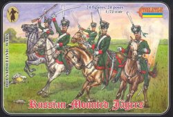 Strelets 1/72nd Scale Plastic Napoleonic Wars Russian Mounted Jagers Set 0018