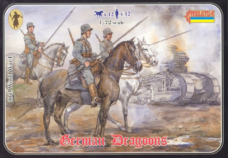Image 0 of Strelets 1/72nd Scale Plastic World War I German Dragoons Figures Set 0045