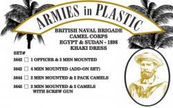 Armies In Plastic Mounted British Naval Brigade Officer Camel Corps Set 5642