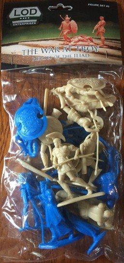 Image 0 of LOD Enterprises War Of Troy Ancient Greek Heroes Plastic Figures Set