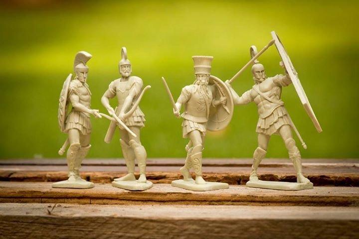 Image 1 of LOD Enterprises War Of Troy Ancient Greek Heroes Plastic Figures Set