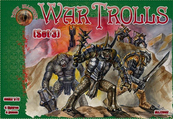 Image 0 of Dark Alliance 1/72 War Trolls Set #3 Figures 72032
