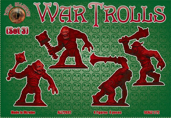 Image 1 of Dark Alliance 1/72 War Trolls Set #3 Figures 72032