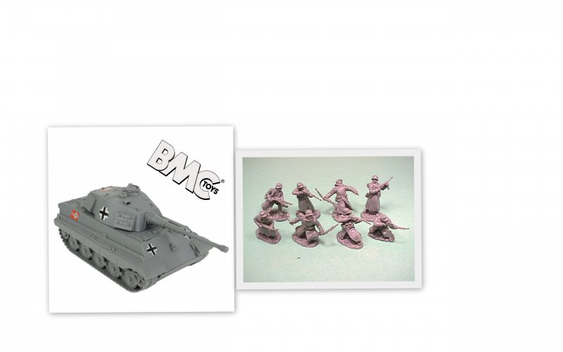 Image 0 of BMC 1/32nd Scale WWII Tiger Tank And TSSD German Soldiers Bundle