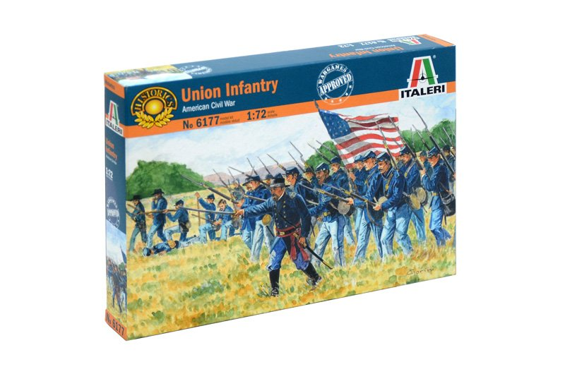 Image 0 of Italeri 1/72nd American Civil War Union Infantry Soldiers Set 6177