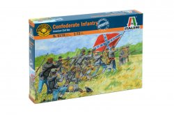 Italeri 1/72nd American Civil War Confederate Infantry Soldiers Set 6178