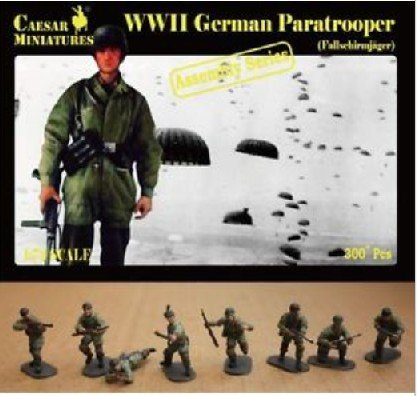 Image 0 of Caesar Miniatures 1/72 WWII German Paratroopers (16 multi-posed figs) Set 7712