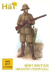 Hat 1/72 WWI British Infantry in Khaki Drill (Tropical) Set 8293