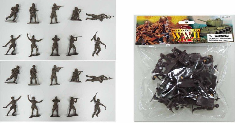Image 0 of World War II 1/32nd Scale Plastic Russian Soldiers Set PYS-48