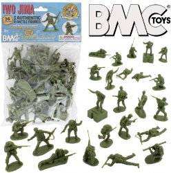 BMC 54mm Iwo Jima WWII US Marines Plastic Figures Set 40034