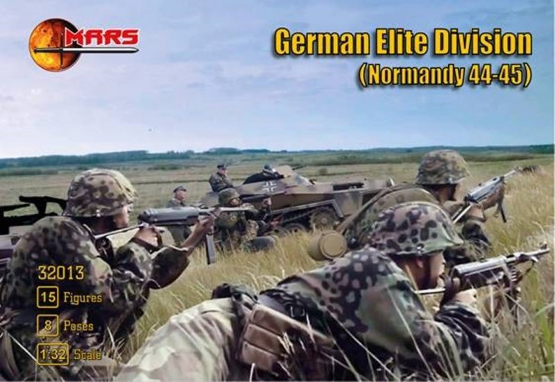 Image 0 of Mars 1/32 WWII Normandy 1944-45 German Elite Division Soldiers Set 32013