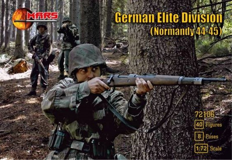 Image 0 of Mars 1/72 Scale WWII Normandy German Elite Division Soldiers Set 72106