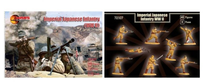 Image 0 of Mars 1/72 Scale WWII Imperial Japanese Infantry Soldiers Set 72107