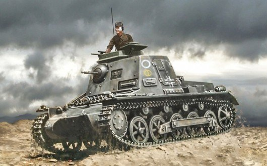 Image 0 of Italeri 1/72 SdKfz 265 Kleine Panzerbefehlswagen Tank Plastic Model Kit 7072
