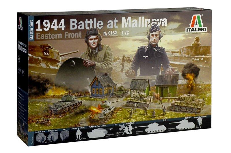 Image 0 of Italeri 1/72 Battle at Malinava 1944 Diorama Set Eastern Front