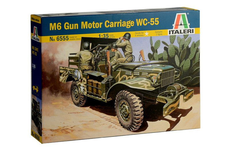 Image 0 of Italeri 1/35 M6 WC55 Dodge Gun Motor Carriage w/Anti-Tank Gun & Figure
