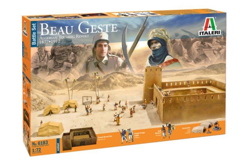 Image 0 of Italeri 1/72 Beau Gest: Algerian Touareg Revolt 1877-1912 Diorama Set 6183 NEW!