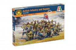 Italeri 1/72 British Infantry & Sepoys Soldiers Colonial Wars Set 6187