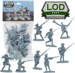LOD1/32 Revolutionary War American Regular Army Playset