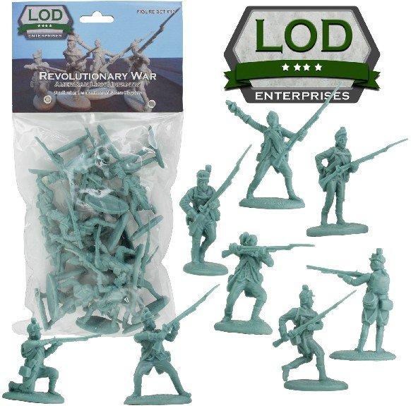 Image 0 of LOD 1/32 Revolutionary War American Light Infantry Playset