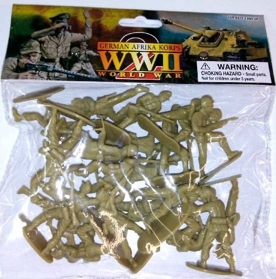 Image 0 of 1/32 54mm WWII German Afrika Corps Figures Bagged Set