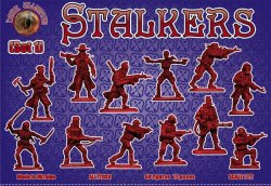 Alliance Figures Plastic 1/72 STALKERS Set 1 Zombie Post Apocalypse 72039 NEW!