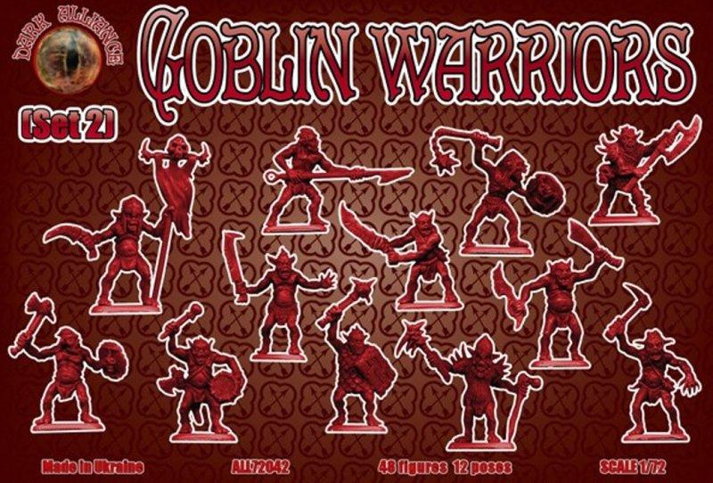 Image 0 of Dark Alliance 1/72 Fantasy Plastic Goblin Warriors Set 2 Figures 72042 New!