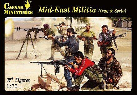 Image 0 of Caesar Miniatures 1/72 Modern Mid-East Iraq Syria Militia Set H101